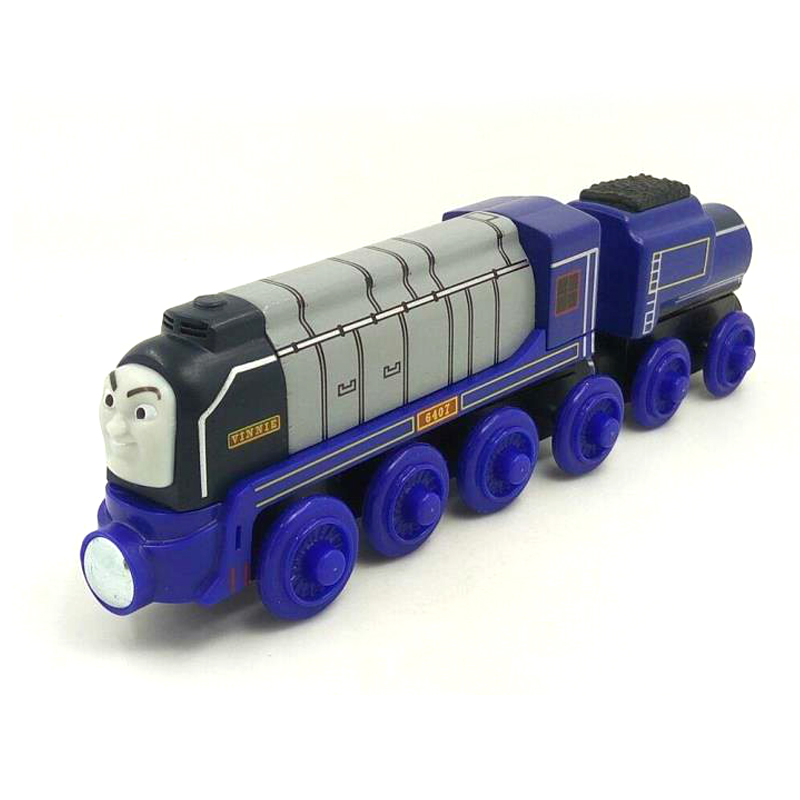 free shipping RARE NEW VINNIE &TRUCK Thomas And Friends Wooden Magnetic Railway Model Train Engine Boy Gift Children track Toy