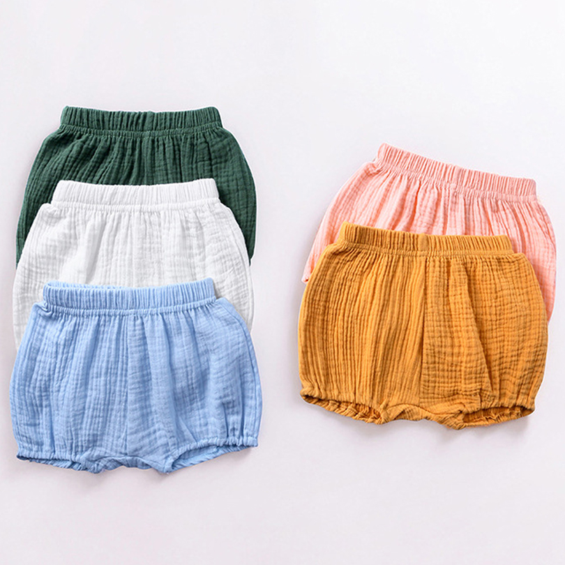 Candy Color Kids Boys Shorts Summer Cotton Children Cool Clothing Casual Baby Girls PP Pant Kid Boy Beach Pants Toddler Bloomers