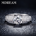 silver plated ring for women with many Austrian Crystal Charm Fancy elegantrings jewelry New Arrival LSR024