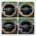 Оптовая Four Seasons Генеральный натуральный лен крышка рулевого колеса окружающей нескользящей твердые крышки рулевого колеса 38 см