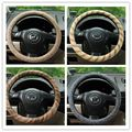 Wholesale Four Seasons General natural linen steering wheel cover environmental non-slip solid steering wheel cover  38cm