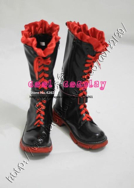 RWBY Ruby Rose cosplay traje Rojo zapatos de arranque