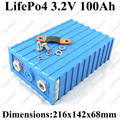 Alta capacidade de 3.2 v 100ah lifepo4 bateria 100ah lifepo4 célula de lítio bateria lifepo4 100a f diy de armazenamento de energia solar veículo