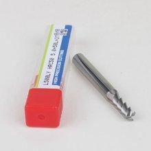Frete grátis -- 1 pçs hrc50 d5 * 13 * d6 * 50l 3 flautas fresas de extremidade para processamento de liga de alumínio