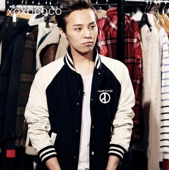 Baseball Jacket Hoodie Women Kpop for Black Red Autumn Chaqueta G-Dragon Gd Single-Breasted