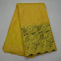 2017 African Lace Fabric High Quality Beaded Swiss Mesh Lace Fabric For Nigerian Tulle Green French