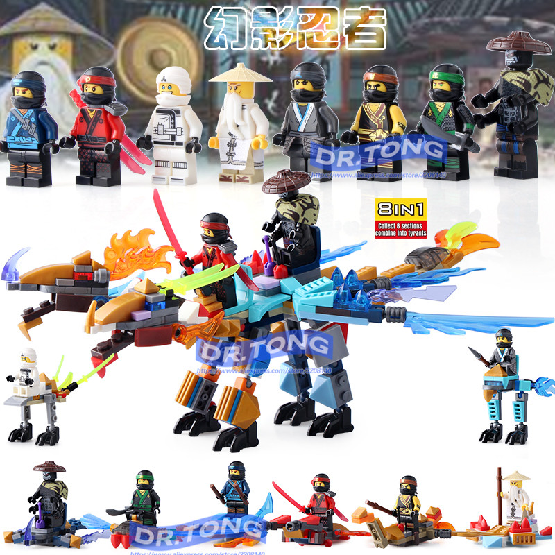80 pcs/lot figurines Ninja SY671 Sensei Wu Lloyd Jay Kai Nya Cole Zane Garmadon blocs de construction modèle briques jouet pour enfants