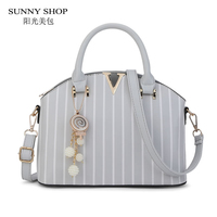 SUNNY SHOP Fashion Strip Women Bag With Accessories Beading American Design Women Shoulder Bags Christma Gift