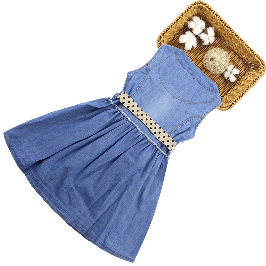 HTB1JIvcQSzqK1RjSZPcq6zTepXaV - Summer Dress For Girls Sleeveless Denim Dress Girl Big Girls Party Dress Kids Summer Clothes For Kids Girl 6 8 10 12 13 14 Year