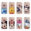Desenhos animados mickey minnie mouse daisy donald duck pooh silicon soft case para iphone 4 4S 5 5S 6 6 s 6 mais 6 s plus case capa shell