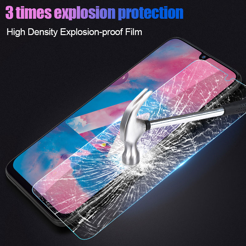 Image 5 - 3Pcs Protective Glass For Samsung Galaxy A50 A30 A20 Screen Protector Film For Samsung M10 M20 M30 A40 A70 A10 Tempered Glass-in Phone Screen Protectors from Cellphones & Telecommunications