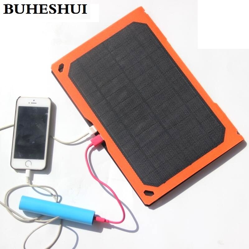BUHESHUI Foldable ETFE 10W Solar Panel Charger For iPhone Dual USB Output Outdoor Travel Waterproof High Quality Free Shipping image