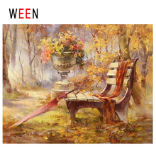WEEN Park Diy Painting By Numbers Abstract Chair Umbrella Oil Painting On Canvas Fall Tree Cuadros Decoracion Acrylic Home Decor rihe fall park diy painting by numbers chair woman oil painting on canvas cuadros decoracion acrylic wall picture home decor