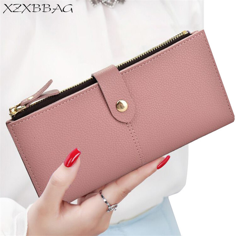 XZXBBAG Fashion Women Long Wallet Female Multiple Card Holder Purse Girl Hasp Zipper Thin Money Bag Folding Students Handbag xzxbbag fashion female zipper big capacity wallet multiple card holder coin purse lady money bag woman multifunction handbag