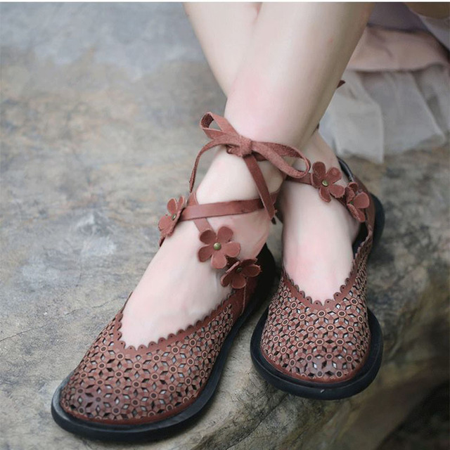 Spring/Summer Lace Up Flat Shoes