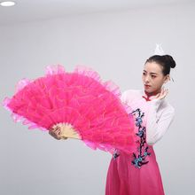 FEECOLOR 1 Pair Chinese style dancing fan for performance and Christian celebration