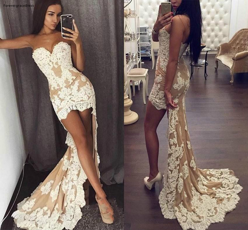 2019 High Low   Prom     Dress   African Sheath Sleeveless Formal Pageant Holidays Wear Graduation Evening Party Gown Custom Made