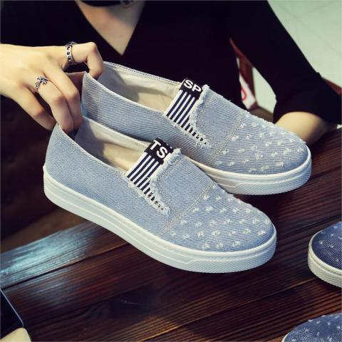 Women Denim Shoes flats Fashion Casual Jeans Shoes Girl Classic Soft Flats Soles Students Spring Canvas Shoes Lady New Arrival Islamabad