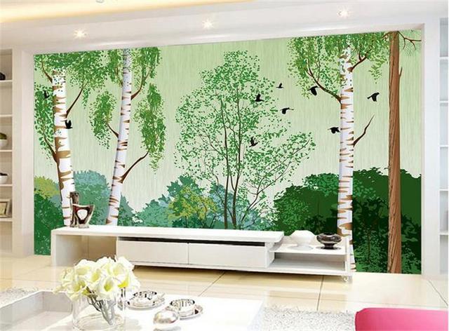 3D Chambre Papier Peint Personnalisé Mural Non Tissé Photo Forêt