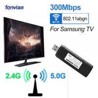 2.4g & 5g banda dupla 300 mbps sem fio wifi lan adaptador de rede smart tv cartão para samsung wis12abgnx desktop portátil televisão
