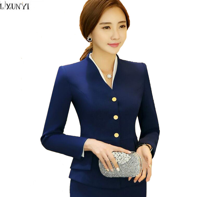 7a4f9ff235f6 ladies Blazers jackets 2017 Spring And Autumn OL Style Long Sleeve Blazer  Women For Work Korean