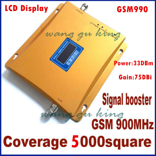 LCD Display!!! GSM 900Mhz Mobile Phone GSM990 Signal Booster , Cell Phone GSM Signal Repeater , Signal Amplifier,+ Power Supply