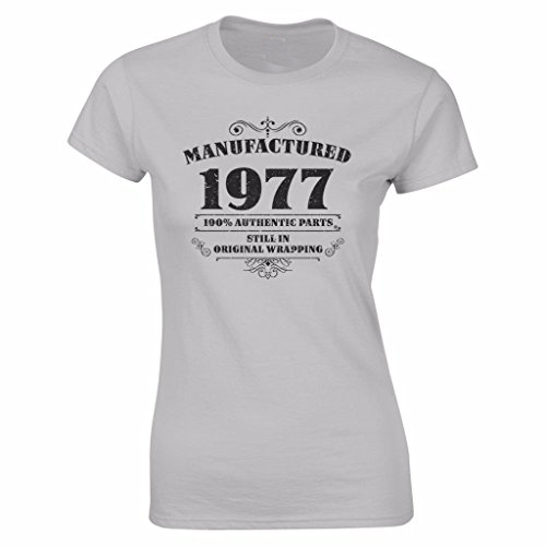 2018 Womens 40th Birthday T Shirt Manufactured 1977 Tee Shirts Gifts Funny Angel Hot Sale 100 Cotton In From Clothing