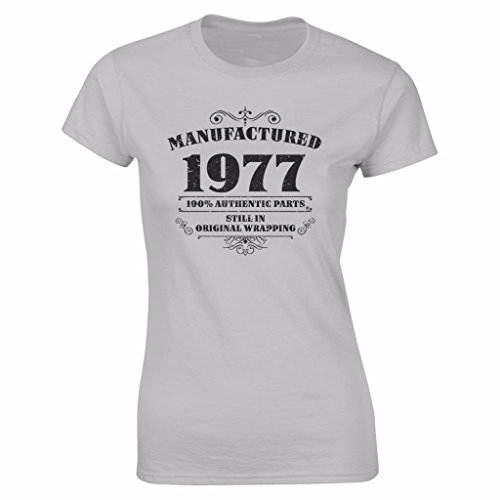 5a54182fe7504 2019 Women's 40th Birthday T Shirt Manufactured 1977 Tee Shirts 40th  Birthday Gifts Shirt Funny Angel Hot Sale 100% cotton