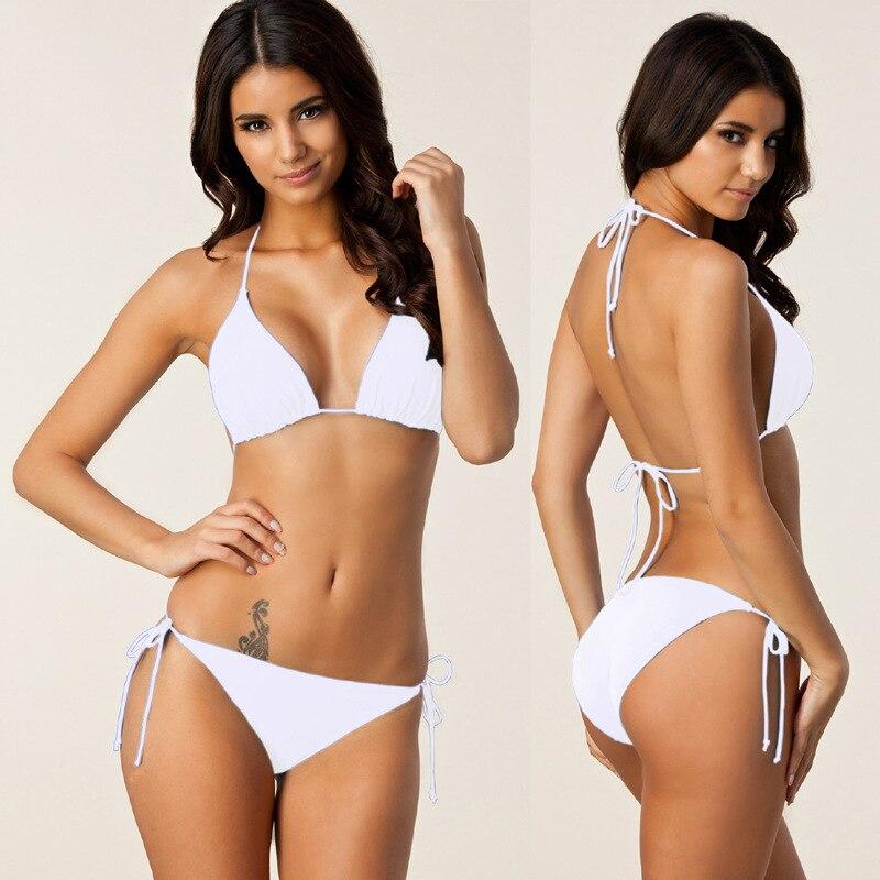 B02 Oversize2018 Nuevas Mujeres del Verano Bikini Sólido Conjunto - Ropa deportiva y accesorios