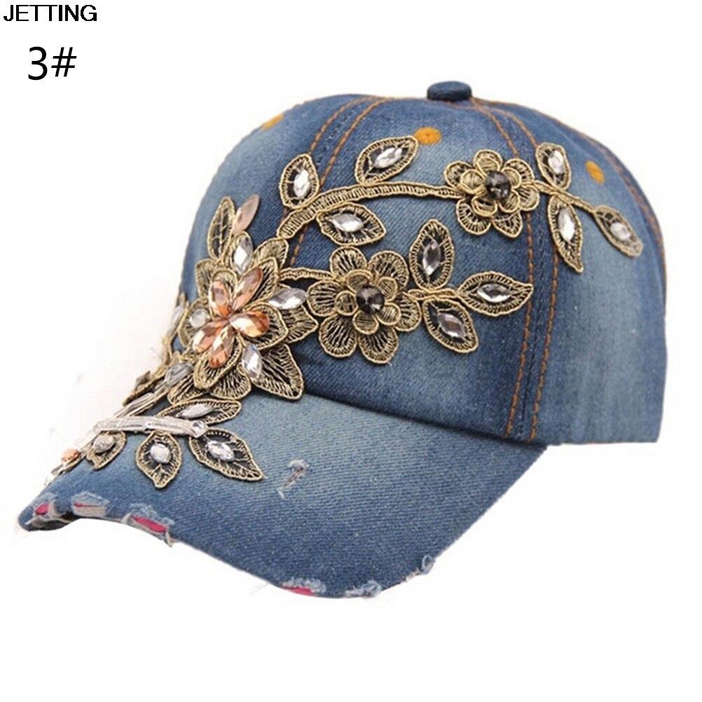 1 StÜck Großhandel Herbst Fashion Denim Baseball Cap Sport Hut Kappe Leinwand Hysteresenkappen Hut Für Frauen Gute Qualität Neue Sorten Werden Nacheinander Vorgestellt