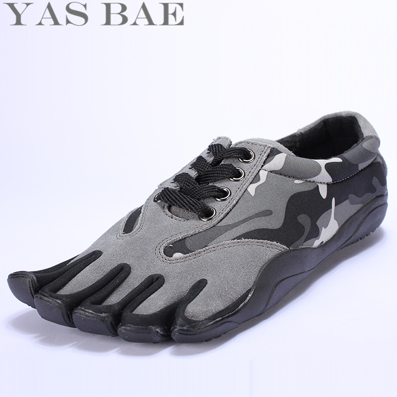 Sale Yas Bae Design Rubber with Five Fingers Outdoor Slip Resistant Breathable Lightweight Camouflage Sneakers Shoes