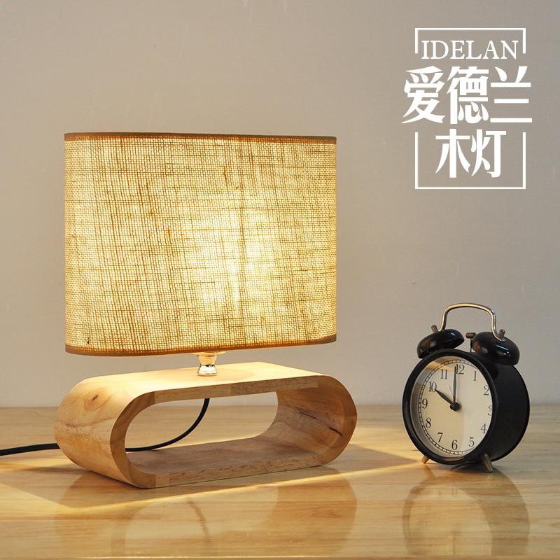Modern Nordic Wooden table lamp Living Room Restaurant Hanging lights Stylish Logs LED Home Light