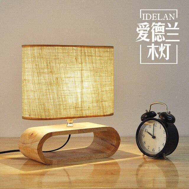 Beau Modern Nordic Wooden Table Lamp Living Room Restaurant Hanging Lights  Stylish Logs LED Home Light