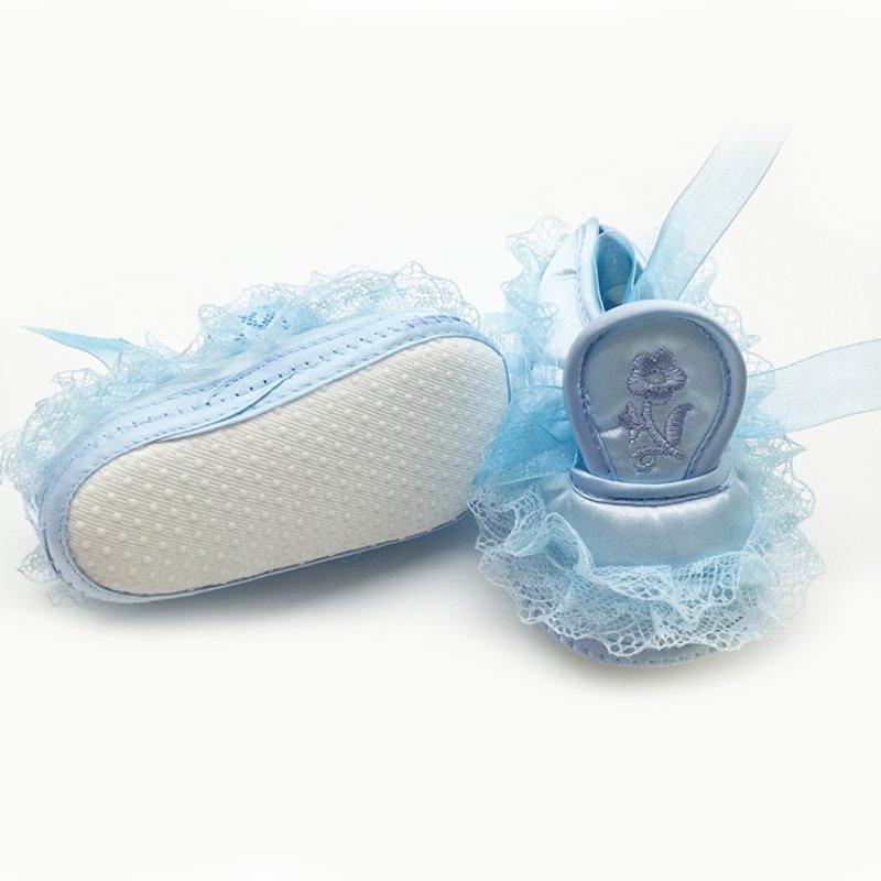 2018 schattige prinses baby meisjes babyschoenen kinderen kant - Baby schoentjes - Foto 3