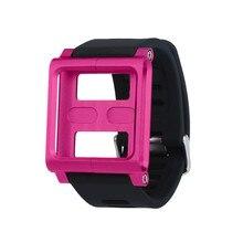 Новое поступление алюминиевый силиконовый микс чехол мультитач ремешок для часов для iPod Nano 6/6th сказочная Прямая поставка Клавдия
