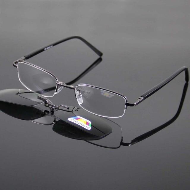 8598481ed3 Wholesale Super Light Women s Glasses Frame + Magnetic Clip-on Sunglasses  UV400 Grey Polarized Sunglasses