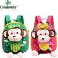 Baby Boys Girls School Bags 3D Cartoon Monkey Plush Backpack for Kindergarten Kids Infant Baby School Backpack School Mochila