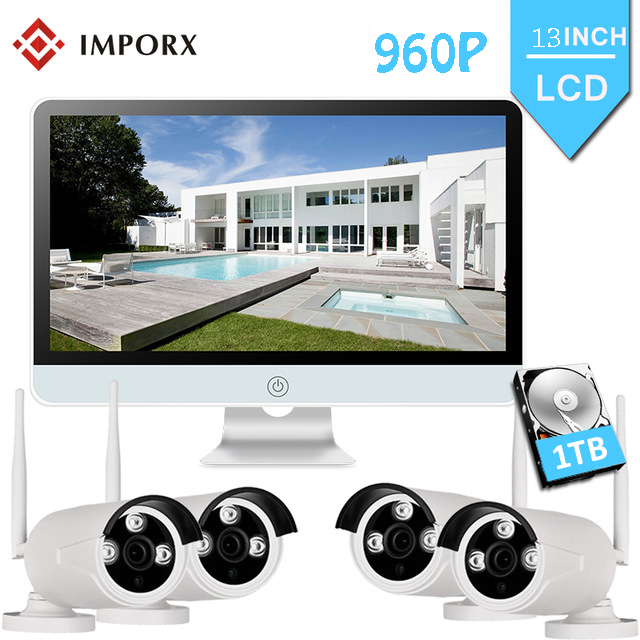IMPORX 4PCS 960P Wireless Security Camera for Home NVR Kit 13\