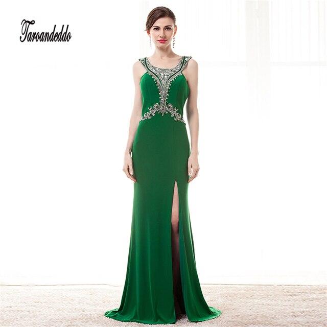 Scoop ausschnitt silber perlen grün chiffon a linie prom dress ...