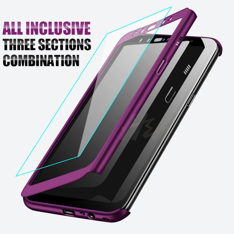 Luxe 360 De Protection étui pour samsung Galaxy A3 A5 J7 J5 2016 Téléphone étui pour samsung A5 A7 2017 J4 J6 J8 A6 A8 2018 Housse