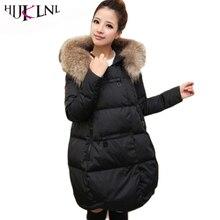 HIJKLNL PARK'S Casacos de INVERNO Para As Mulheres Tamanhos Maiores Dames Jassen Inverno do Revestimento da Pele das Mulheres jaqueta de Inverno 2017 Mulheres Casaco JX084