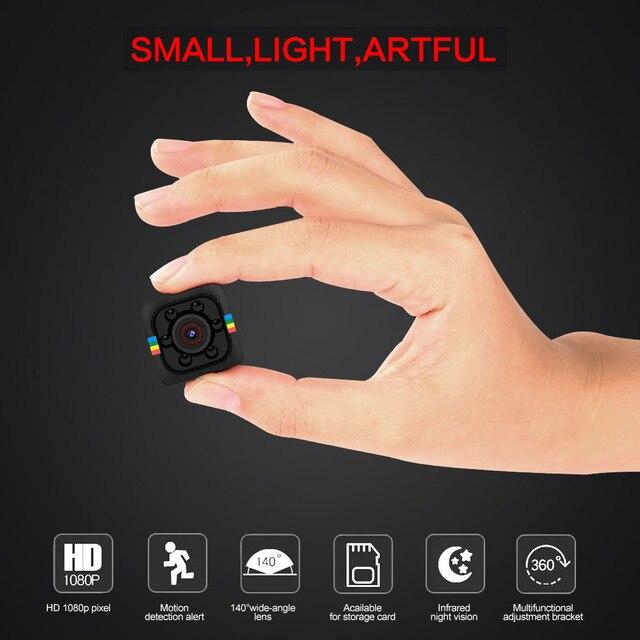 SQ11 PRO Mini Câmera de Segurança do Sensor 1080 P Portátil Filmadora pequena cam TFcard Apoio Câmeras espia Escondida Secreta
