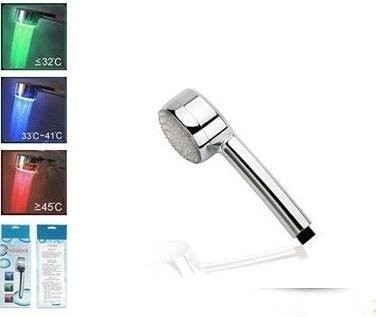 5pcs/lot 8 LED Water Heat Control 3 Colors 8 LEDs  Shower Faucets Shower Head Light