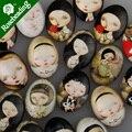 18x25 мм овальные картины стекло кабошон, смешанный мультфильм девушка фотографии, плоская спина, толщина 6 мм, продается 20 шт./lot-C4543