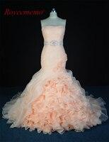 Royeememo imagem real 2017 new design organza vestido de Noiva venda quente vestido de noiva custom made fábrica fornecedor