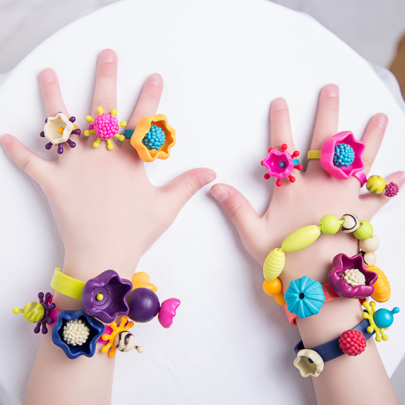Kids Colorful Creative DIY Pop Art Beads Toy Girls Handmade Beads For Necklace Bracelet Jewelry Educational Toy Birthday Gift
