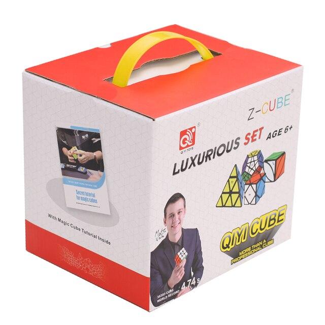 ZCUBE Bundle 8PCS/Set Gift Pack Qiyi XMD Magic Cube Set 2x2x2 3x3x3 4x4x4 Mirror Speed Cube Puzzle Educational Toys For Children 5