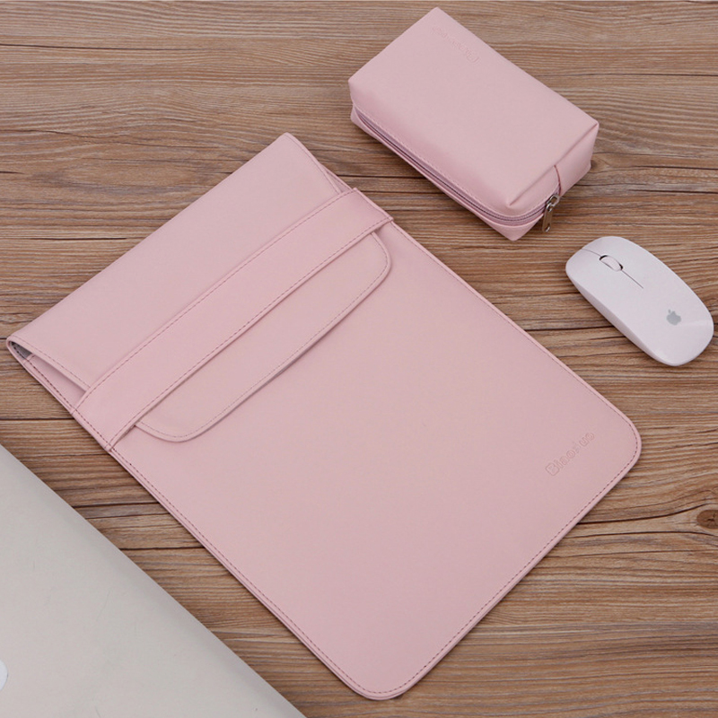 Ultra-thin Smooth PU Leather Slim Sleeve Laptop Bag 15.6 14 For Macbook Air 13 Pro 11 15 Touch Bar Case For Xiaomi Asus HP Cover