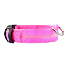 Dog Collar with Solid Color LED Light