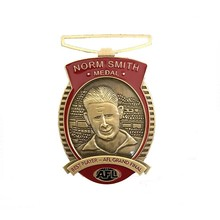 The latest custom 3D antique gold casting sports metal medal character souvenir promotion